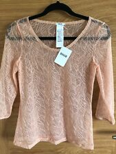 WOLFORD NET LACE LEAFAGE CORAL PULLOVER SIZE S NEW £200