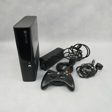 Xbox 360 E Super Slim Video Games Console Black PAL Working Unboxed Scratched