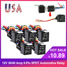 5 Pack 12V 30/40 Amp 5Pin SPDT Automotive Relay with Wires & Harness Socket Set❀