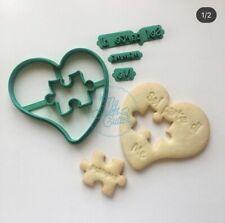 Cuore Puzzle Festa Mamma Sei Parte Di Me Formina Biscotti Cookie Cutter