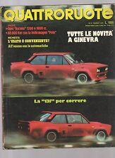 Quattroruote marzo 1976 - la 131 -