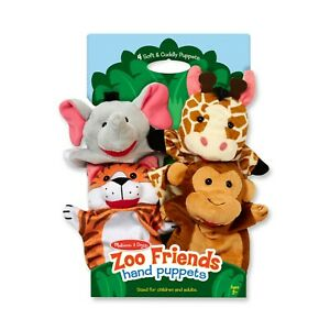 Melissa & Doug ~ Zoo Friends Hand Puppets 2+