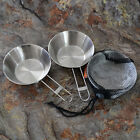 Stainless Steel Camping Portable Folding Handles Bowl for Cook Cooking Picnic