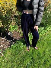 Damen Samt Hose dunkelblau Gr.42  90er/2000er True Vintage