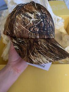 VIVIENNE WESTWOOD HAIR PRINT BASEBALL CAP Men's Brand New MADE IN ITALY RRP 165