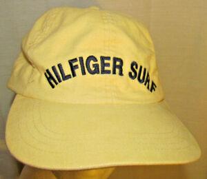 SURF VINTAGE -TOMMY HILFIGER -8 SURFER BALL CAP- LEATHER STRAPBACK HAT-SPORT-GC!