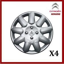 """ORIGINALE Citroen C1 C2 C3 14"""" acciaio Copricerchi/Coprimozzi prima (x4)"""