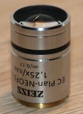 Zeiss MICROSCOPIO Microscope obiettivamente EC piano-Neofluar 1,25x/0,03 (420310) m27