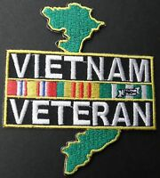 Vietnam Veteran Embroidered Large Jacket Patch 12 inches
