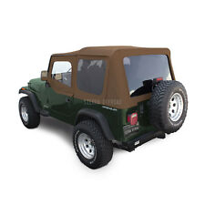 Jeep Wrangler YJ Soft Top, 88-95, Upper Doors, Tinted Windows, Spice Sailcloth