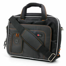 Bag For Samsung Galaxy Tab 2 GT-P5110ZWAXSA Tablet 10'' -Black/Orange With Strap