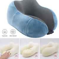 Travel Neck Pillow Memory Foam Cushion Soft U Shape Support Headrest Car Flight#