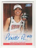 2007 WNBA Authentic Autograph Plenette Pierson Detroit Shock 2006 WNBA Champions