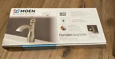 New Moen Hamden Spot Resist Brushed Nickel Bathroom Faucet 84303SRN