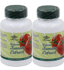 2 Natural Tomato  Extract with Lycopene selenium Antioxidant 100 tablets/bottle