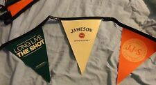 "Jameson Irish Whiskey - String of Pennants  ""Long Live the Shot"" - 23+ Feet Long"
