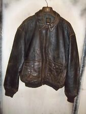 VINTAGE USAAF ISSUE AVIREX A2 DISTRESSED LEATHER FLYING JACKET SIZE 2XL ++ 3XL