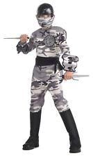 Arctic Camo Ninja Warrior Fighter Halloween Deluxe Child Costume LARGE 12-14 NEW