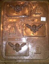 """Cherub Placecard and Stand Chocolate Candy Plastic Mold CK 90-15553 3""""W x 2""""H"""