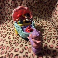 Little Mermaid Fisher Price Ltl People Seahorse Musical Carriage Coach Set EUC