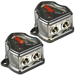 DS18 0 Gauge to Dual 0 Gauge Output Ground Distribution Blocks DB1020 Pair