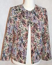 DASH Size 10 Floral Tapestry Woven Ladies Dress Jacket Cruise Vintage Style *VGC