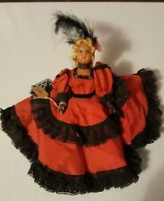 """Vintage 7"""" Doll Wearing a French Dress Jointed"""