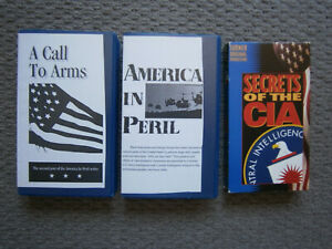 A CALL TO ARMS, AMERICA IN PERIL & SECRETS OF THE CIA, VHS LOT.