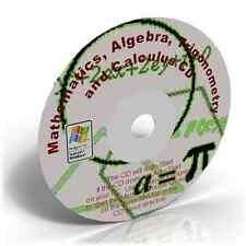 Mathematics,Algebra,Trigonometry & Calculus Learning CD