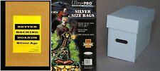 1 x Ultra Pro Comic Bag, Board and Short Box Combo (Silver Age Comic Storage)