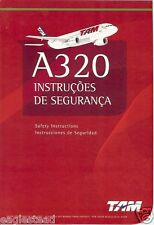 Safety Card - TAM - A320 - Red Cover (Brazil) (S3118)