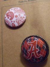 NEW Legacy ALABAMA CRIMSON TIDE Fabric Button Ring