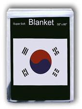 "SOUTH KOREAN TAEGEUKGI FLAG FLEECE BLANKET *NEW* 50x60"" T'aegŭkki 태극기  太極旗 Korea"