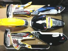KLX 110 02-09 Kx 65  02-12 Graphic Kit Hart Huntington  Plastics Yellow H&H Kit
