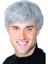 Mens Grey Wig Old Man Silver 60's Mod Beatles Costume Fancy Dress Up Party New