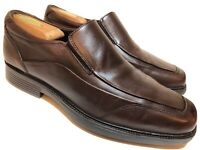 JOHNSTON & MURPHY Mens 9 M Brown Leather Loafers Dress Casual Shoes Slip On