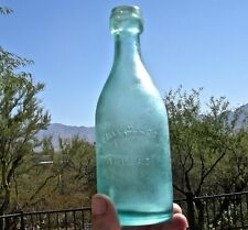 1860s PHILADELPHIA PENNSYLANIA PA CRUDE DYATTVILLE GLASS WORKS BLOB SODA BOTTLE