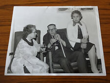C1960s Large Photo: 2 Ladies & Man, Sitting Talking & Taking Wine, Southgate