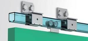 Hardware Sliding Door Metal Trolley Track Hanger Hanging Gate Roller System