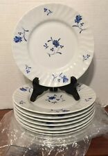 """11 Royal Worchester 8"""" Lunch Plates Blue Bow Pattern Excellent 11 Plates"""