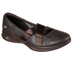 NEU SKECHERS Damen Ballerinas Slipper Flats GO STEP LITE - LOVELY Braun