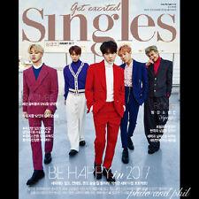 SINGLES Korea Magazine January 2017 BTS Bangtan Boys