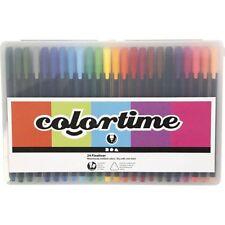 Colortime Fineliner Pens in Case Asst Colours 24 Pack Bullet Journal Colouring