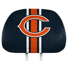 NFL CHICAGO BEARS PRO MARK HEAD REST COVER  SET OF TWO STRIPED