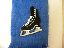 man boy Ice figure skate skating blade Towel royal blue Free Shipping