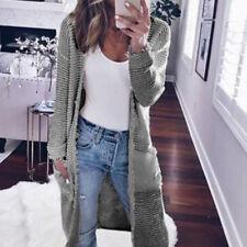 Women CARDIGAN Ripped Knitted Coat Sweater Long Jacket Casual Fall Winter S-XL