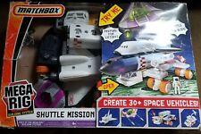 Vintage 1998 Matchbox Mega Rig Space Ship Shuttle Mission Alien Play Set
