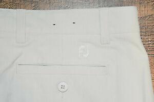 FootJoy Men Performance Stretch Athletic Golf Pants 36x32 Light Beige EUC B44