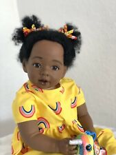 "Reborn 22"" Ethnic African American/AA toddler girl doll ""Destiny"""