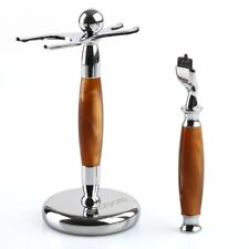 """Shaving Brush Stand 6"""" & Safety Razor Replacement Handle for Gillette Mach 3"""